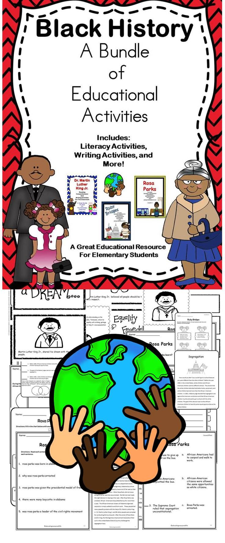 Celebrating Black History - A bundle of educational goodies for elementary students. #history