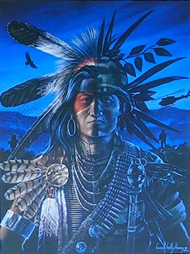 Native Americans Indians Standing Guard ~ Enoch Kelly Haney's amazing Oklahoma art