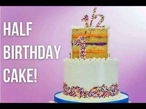 cookie and frosting recipe also Funfetti Half Birthday Cake with Chocolate Dipped Marshmallows & Choco – HOW TO CAKE IT