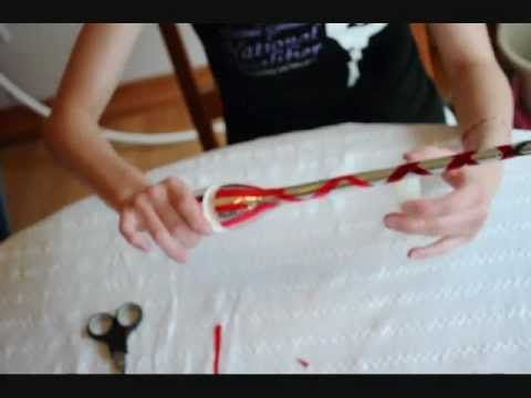 How to: Tape Rhythmic Gymnastics Clubs [Part 3: Clear Tape]