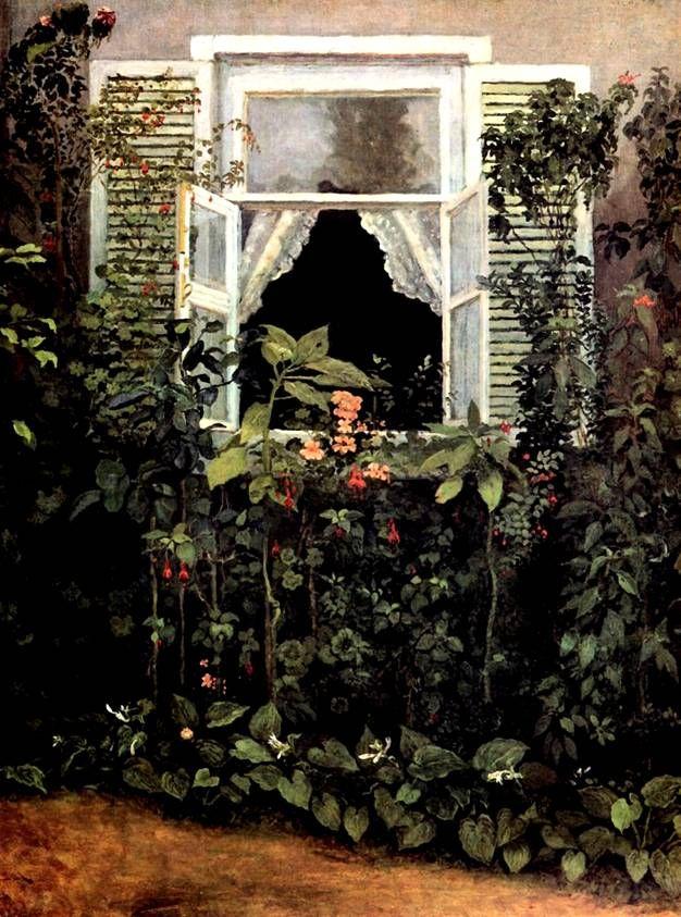 bmsun:  amare-habeo:  Vicor Borisov - Musatov - Window, 1886   <  p>
