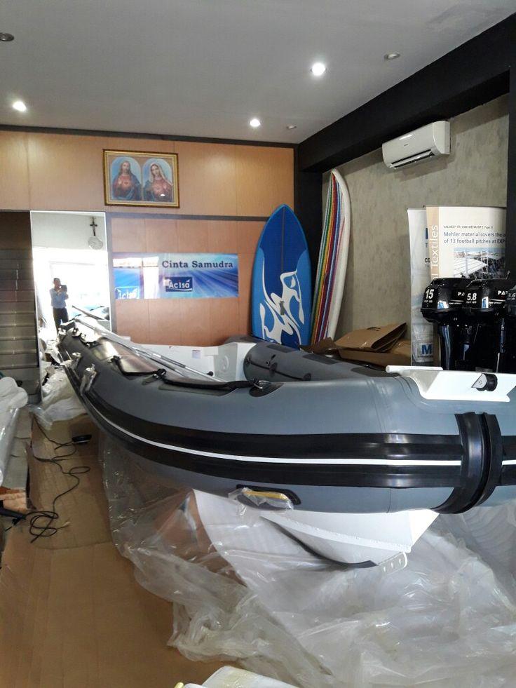 Aluminum hull Ocean master hypalon orca rigid inflatable boat www.acisa.biz