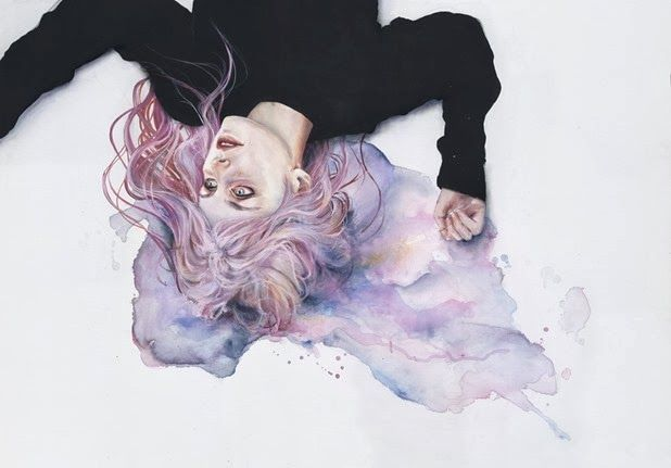 Juxtapoz Magazine - New Watercolors by Agnes Cecile