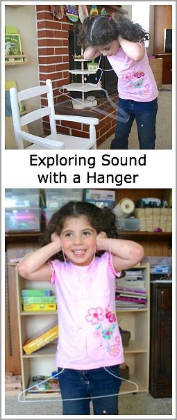 Science for Kids: Exploring sounds waves with a wire hanger and string! ~ BuggyandBuddy.com