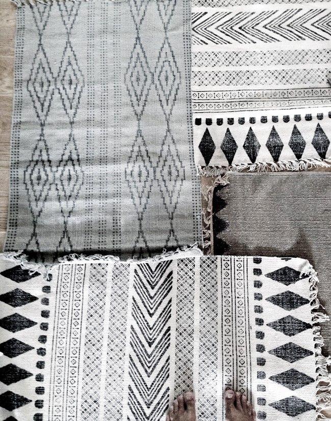 On the blog today - Mood Board: White.  #rug #rugs #pattern #black #white #homewares #diamonds