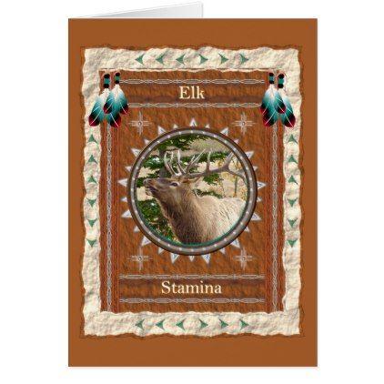 Elk  -Stamina- Custom Greeting Card - personalize cyo diy design unique