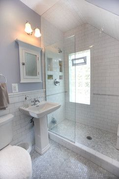Shower Insets - Traditional 1920s Bathroom Bath Design Ideas, Pictures, Remodel and Decor