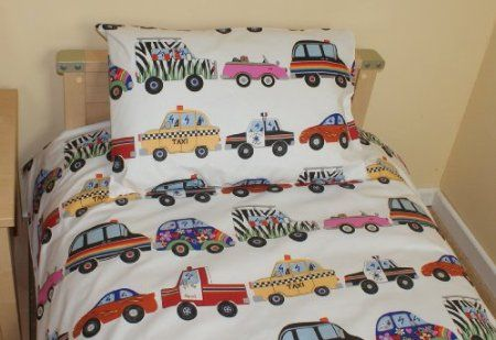 Cars & Emergency Vehicle Single Duvet Set: Amazon.co.uk: Kitchen & Home