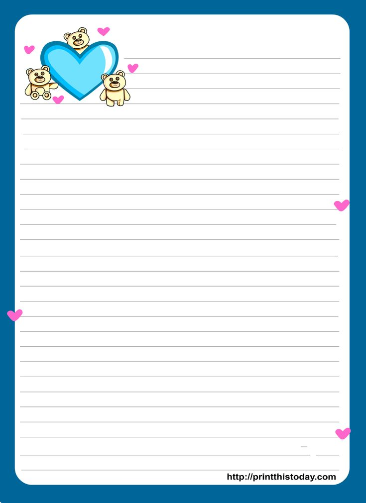 Miss You Love Letter Pad Stationery
