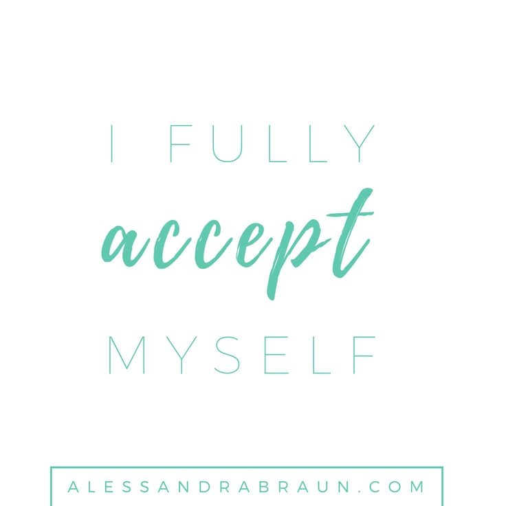 I fully accept myself | 31 Positive affirmations for every day of the month | Positive Thinking | Self Discovery | Personal Development