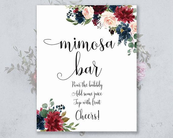 Mimosa Bar Sign Instant Download 8x10 Wedding Etsy Mimosa Bar Sign Mimosa Bar Bar Signs