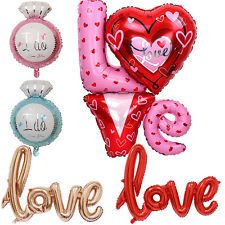 Large Love Letter Wedding Foil Balloons & Balloon Pump Valentine's Day Decor