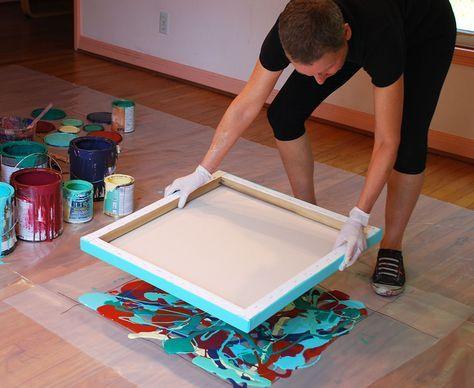 Diy Καταπληκτική σύγχρονη τέχνη από περίσσευματα χρωμάτων7