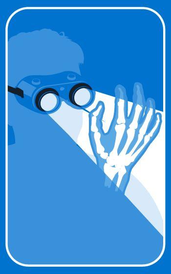 Where's My Jectpack? X-ray specs illustration via Richard Horne (elhorno.co.uk)