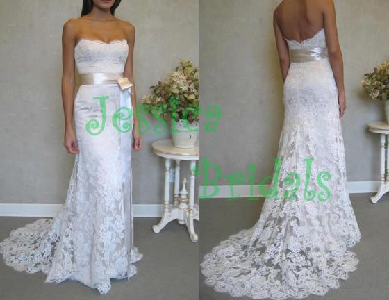 Lace wedding dress wedding gown beach wedding by JessicaBridals, $289.00