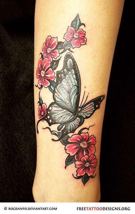 [ Tattoos that I love ] . 60 Butterfly Tattoos | Feminine And Tribal Butterfly Tattoo (this butterfly? coloring - more purple?)