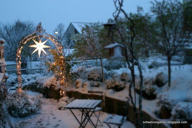 Schnee! - Ein Schweizer Garten