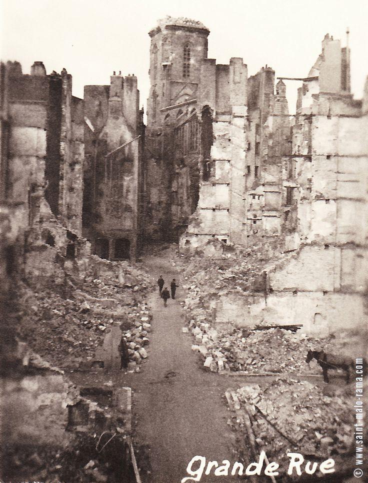 Bretagne - Grand-Rue - Saint-Malo, Ille-et-Vilaine - 1944