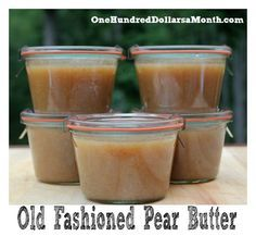 Pear Butter Recipe – Canning 101 will give it a whirl perhaps but that 1 cup of sugar has GOT to go!