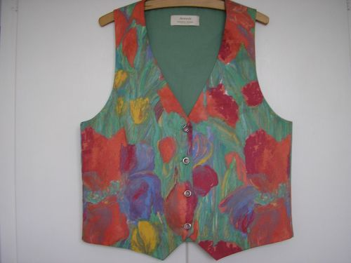 """French Impressionist Ladies Waistcoat 12-14 (34"""" - 36"""") from Jacaranda Inspired by"""