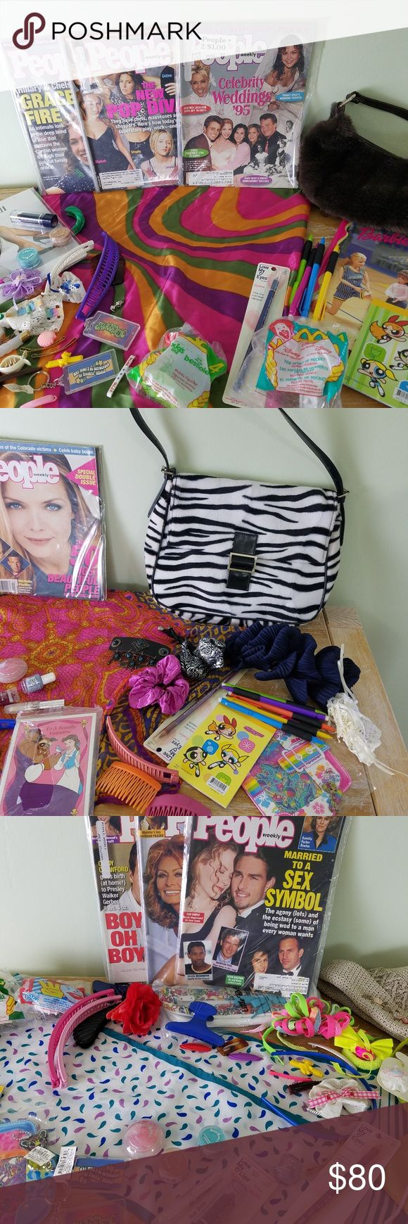 15 pc box of 90s / y2k items Powerpuff girls makeup