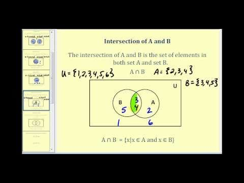Set Operations and Venn Diagrams - Part 1 of 2