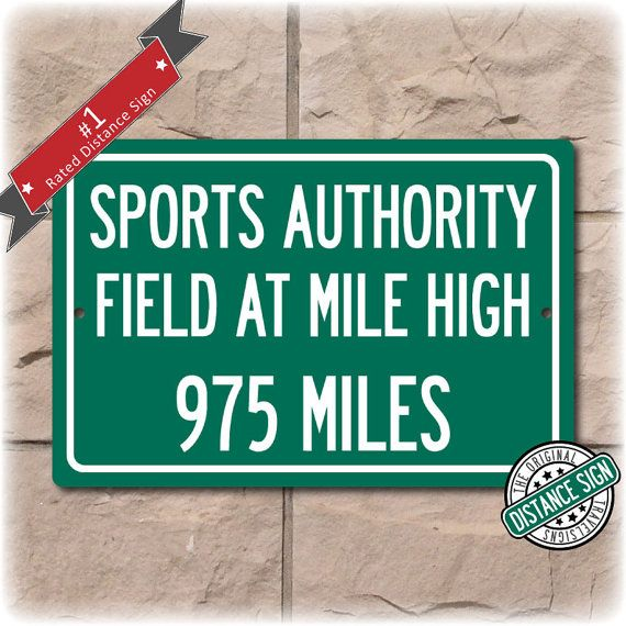 Personalized Highway Distance Sign To: Sports by Travelsigns