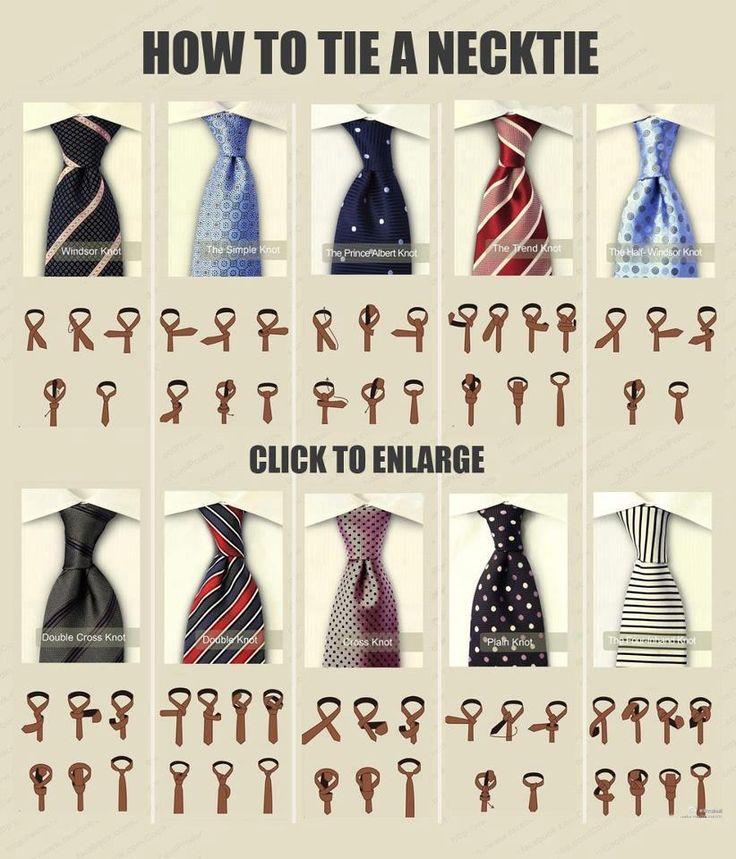 How to tie a necktie