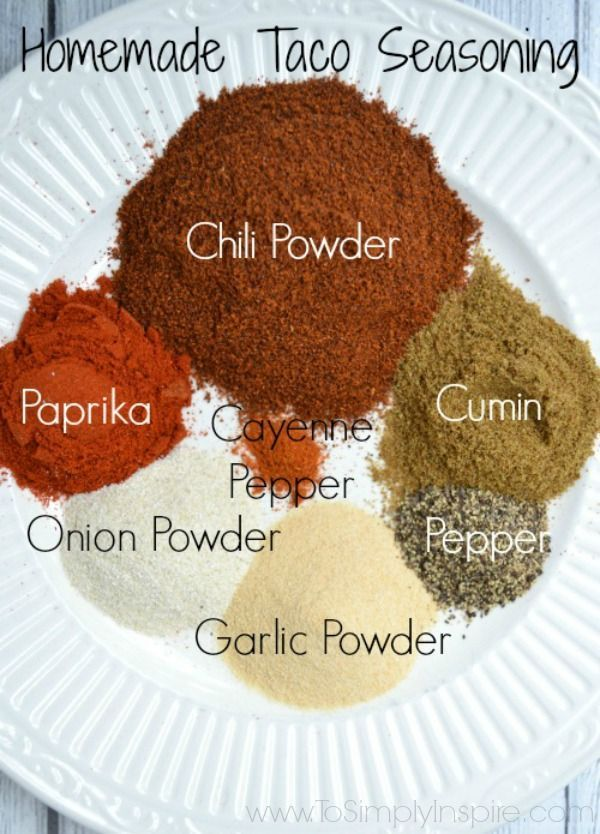 Making homemade taco seasoning is so easy and so much healthier too. Mix it up with spices that you probably have already in your house.