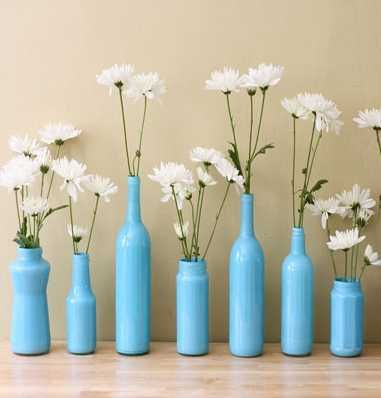 glass vase decorating ideas Ideas Glass Bottles on Glass
