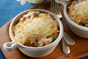 Lasagna bake for two.  One of our favorite recipes- fun for little people too!  Great lasagna and easy!