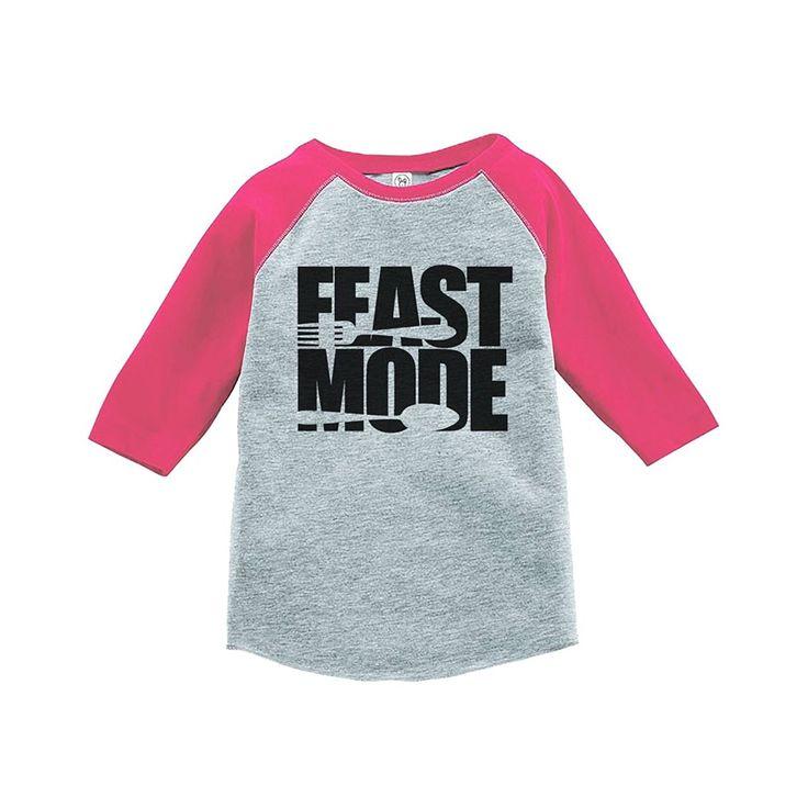Custom Party Shop Baby's Feast Mode Thanksgiving Pink Raglan
