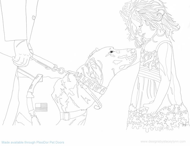 assistance dogs coloring pages - photo#13