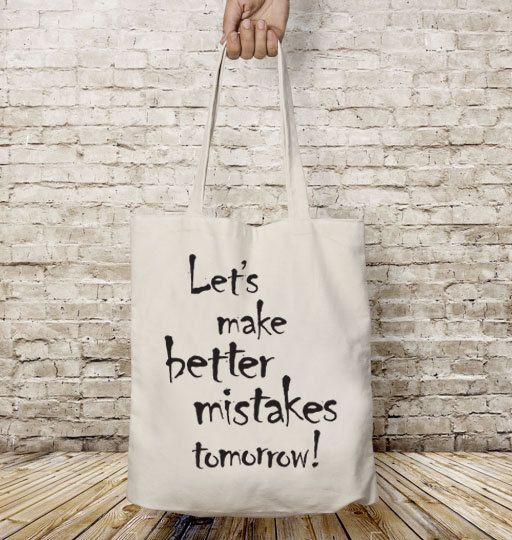 Let's make better, Tote bag canvas, Shopping bag, Cotton tote bag, Motivational quote, Inspirational phrase, Shopping bag,Shoulder bag, Gift