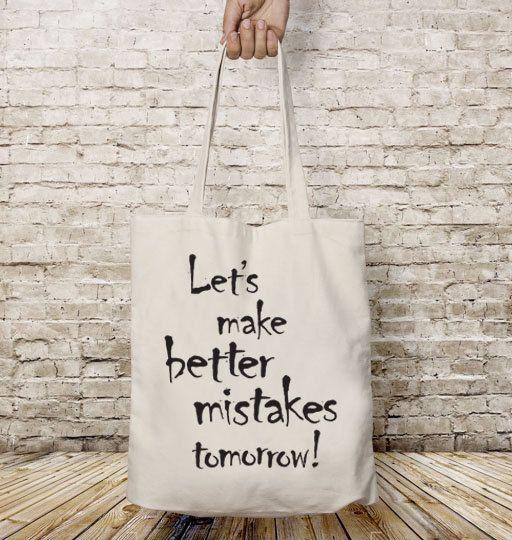 Let's make better, Tote bag canvas, Shopping bag, Cotton tote bag, Motivational quote, Inspirational phrase, Shopping bag,Shoulder bag, Gift