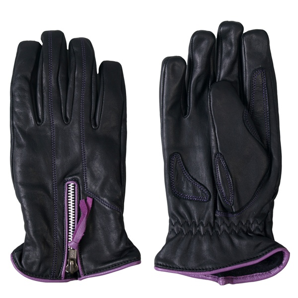 Hot Leathers Ladies Driving Gloves w/Purple Piping  #HotLeathers
