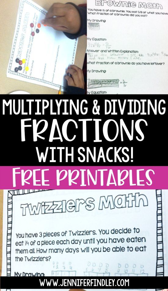 picture regarding Dividing Fractions Games Printable known as Multiplying and Dividing Fractions: Portion Exciting with Treats