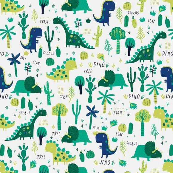 Dinosaurs 3m roll wrapping paper dinosaur illustration dinosaur fabric dinosaur wallpaper - Paperboy dinosaur wallpaper ...