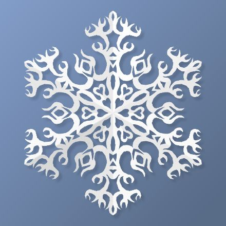 Make virtual paper snowflakes in your browser with this HTML5 web app, then save or share your images.