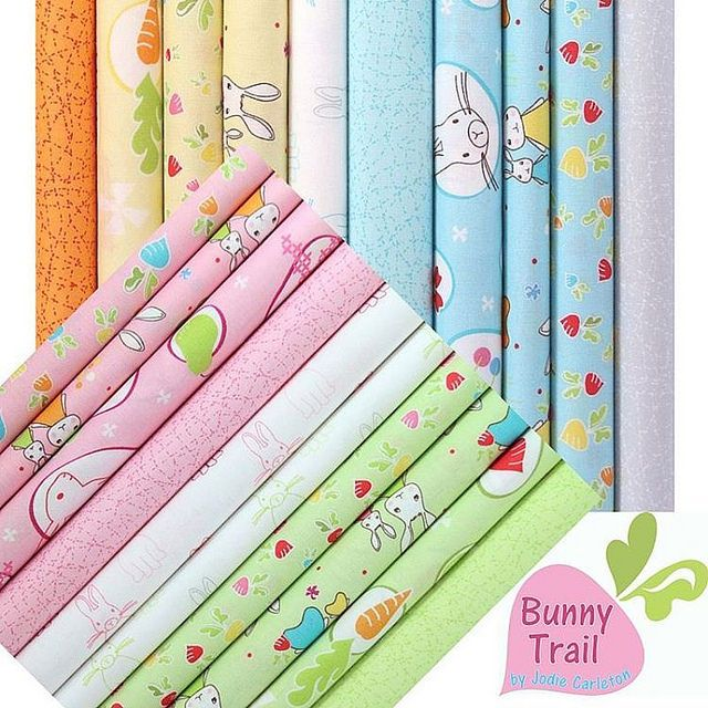 Bunny Trail for #ellabluefabrics . Twenty happy hoppy prints and a cute bunny panel. In store late June, early July 2016. | by Jodie Carleton ric rac