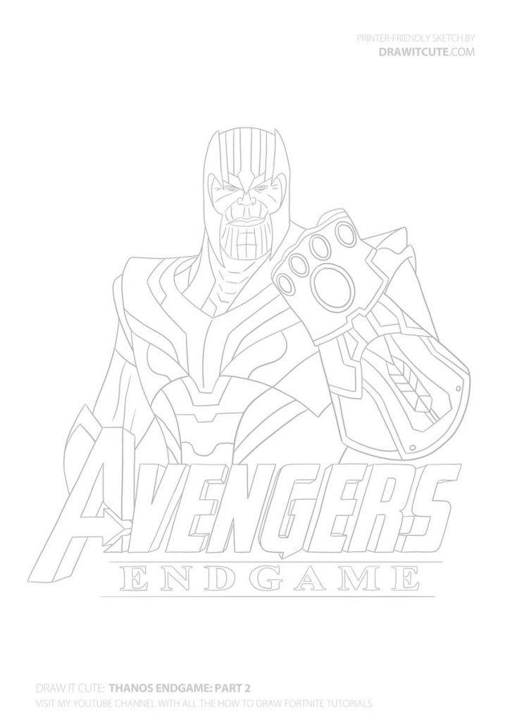 Thanos Coloriage Dessin