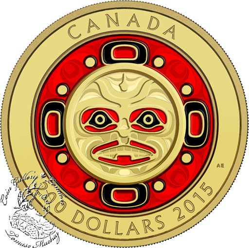Coin Gallery London Store - Canada: 2015 $200 Singing Moon Mask Gold Coin, $2,999.95