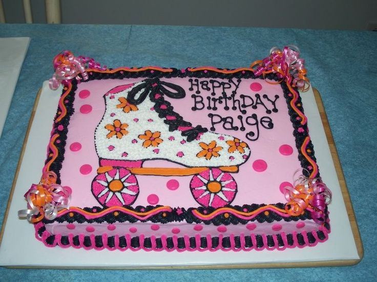 Spectacular Roller Skate This was for a little girl who was having a rollerskating birthday party