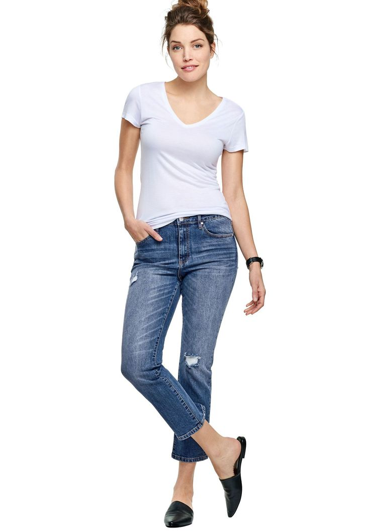 Cropped Slim Jeans by Ellos® - Women's Plus Size Clothing