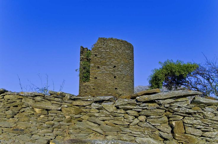 Ancient Black Tower at Exabela  Sifnos island Cyclades