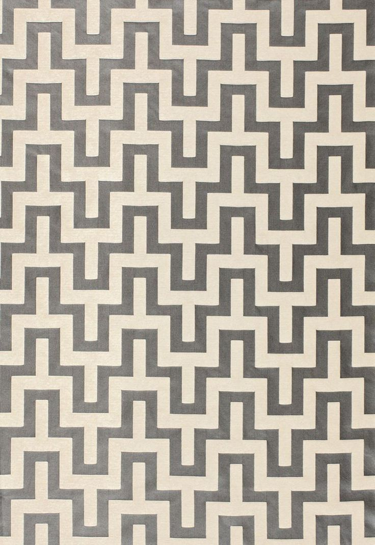Exclusive fabrics painted chevron printed cotton curtain free - 66552 Maubray Weave Graphite By Fschumacher Fabric