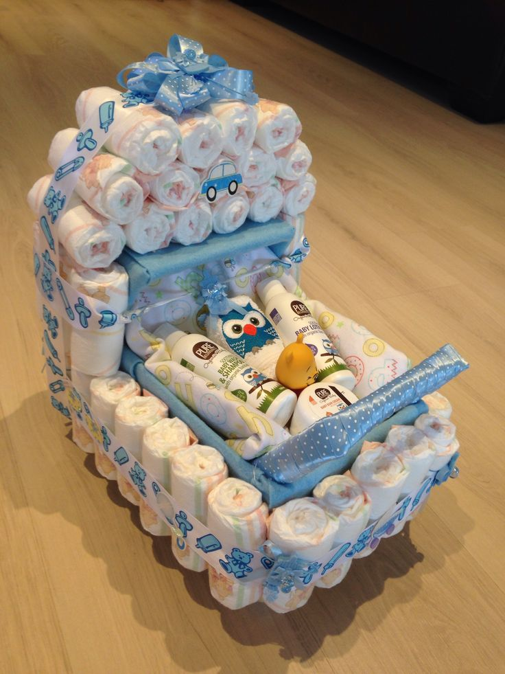 Baby shower present, nappy stroller idea