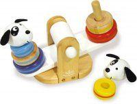 Dřevěná motorická hra - Vilac - Pejsci na houpačce