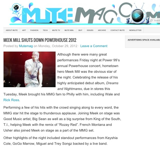 MEEK MILL SHUTS DOWN POWERHOUSE 2012     Check out more at MuteMag.com