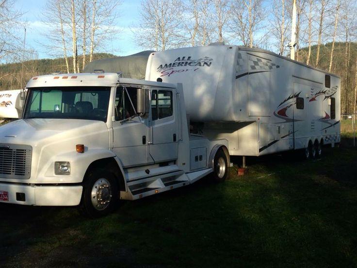 Freightliner Trucks For Sale >> 99 freightliner and 07 forest river toy hauler | trucks ...